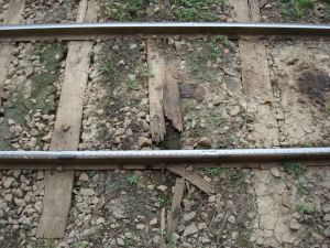 Although it's just a track along the platform, it's far from a comforting business card. The Northern or at least the most Northern part of it is in need for a complete overhaul something that must have started yesterday already.