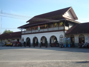 The station building in Northern Lanna style and colonial influences